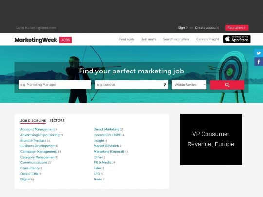 Marketing Week Jobs